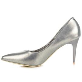 Vinceza Elegant pearly high heels grey 3