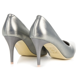 Vinceza Elegant pearly high heels grey 4