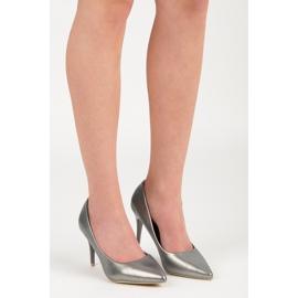 Vinceza Elegant pearly high heels grey 6