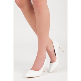 Vices White High Heels 5