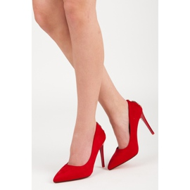 Seastar Suede heels with decoration red 1