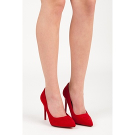 Seastar Suede heels with decoration red 7