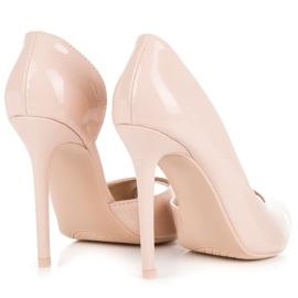 Seastar Lacquered open toe heels brown 4