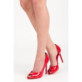 Seastar Lacquered open toe heels 1