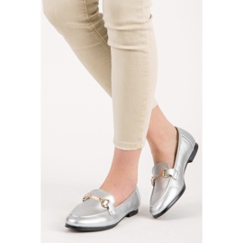 Vices Silver slip-on loafers grey 1