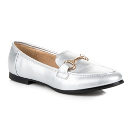 Vices Silver slip-on loafers grey 3