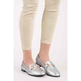 Vices Silver slip-on loafers grey 2