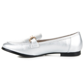 Vices Silver slip-on loafers grey 4