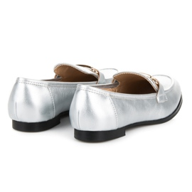 Vices Silver slip-on loafers grey 5