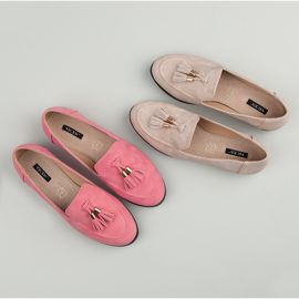 Vices Loafers With Fringes pink 1