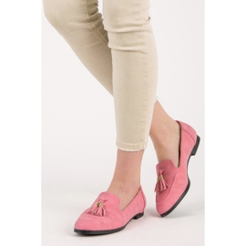 Vices Loafers With Fringes pink 2