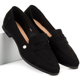 Seastar Suede moccasin shoes black 5