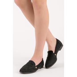 Seastar Suede moccasin shoes black 6