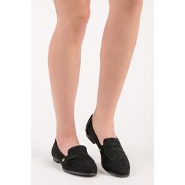 Seastar Suede moccasin shoes black 1