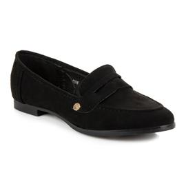 Seastar Suede moccasin shoes black 2