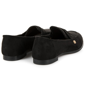 Seastar Suede moccasin shoes black 4