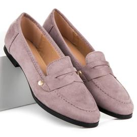 Seastar Suede loafers shoes violet 2