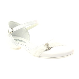 Courtesy ballerinas Communion Miko 714 white 1