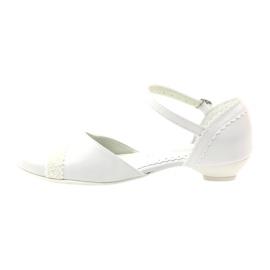 Courtesy ballerinas Communion Miko 714 white 2