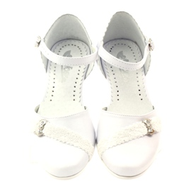 Courtesy ballerinas Communion Miko 714 white 4