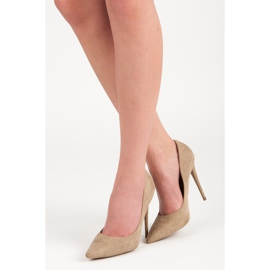 Vices Pumps on a stiletto brown 1