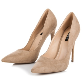 Vices Pumps on a stiletto brown 4