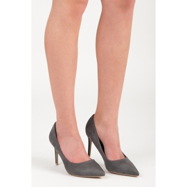Vices Gray suede high heels grey 2