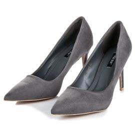 Vices Gray suede high heels grey 4