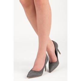 Vices Gray suede high heels grey 1