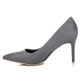 Vices Gray suede high heels grey 3