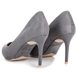Vices Gray suede high heels grey 5