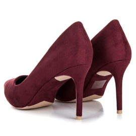 Vices Burgundy suede high heels multicolored 4