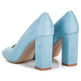 Vices Blue pumps on the post 4