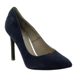 Edeo Pumps On Pin 3180 navy blue 1