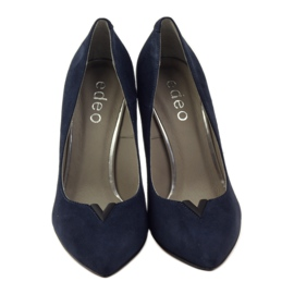 Edeo Pumps On Pin 3180 navy blue 4