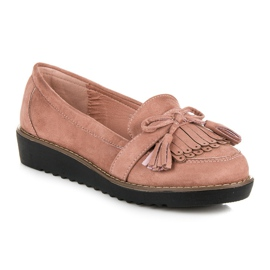 Seastar Loafers with tassels pink 4