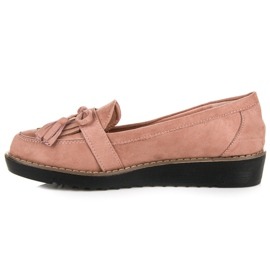 Seastar Loafers with tassels pink 5