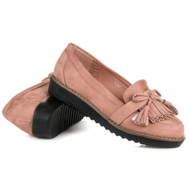 Seastar Loafers with tassels pink 6