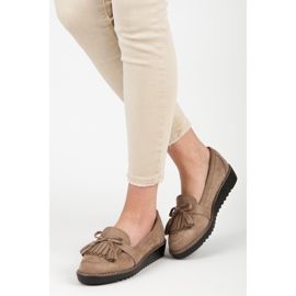 Seastar Loafers with tassels brown 7