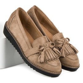 Seastar Loafers with tassels brown 6