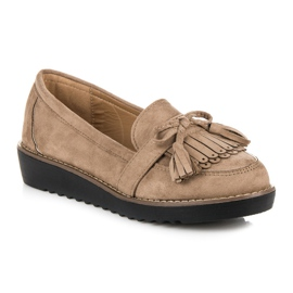 Seastar Loafers with tassels brown 3