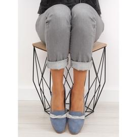 Women's blue loafers H8-110 Blue 3