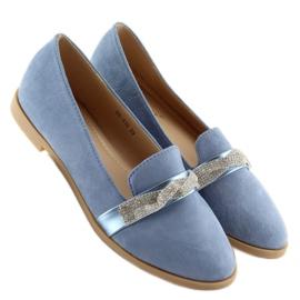 Women's blue loafers H8-110 Blue 4