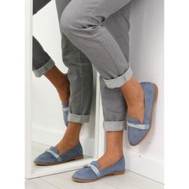 Women's blue loafers H8-110 Blue 1