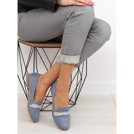 Women's blue loafers H8-110 Blue 2