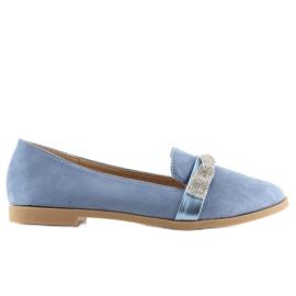 Women's blue loafers H8-110 Blue 5