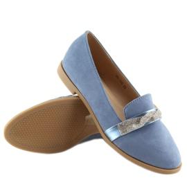 Women's blue loafers H8-110 Blue 6
