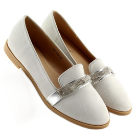 Women's loafers gray H8-110 Gray grey 4
