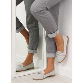 Women's loafers gray H8-110 Gray grey 1