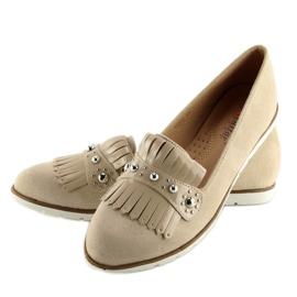 Women's loafers beige DM30P Beige 5